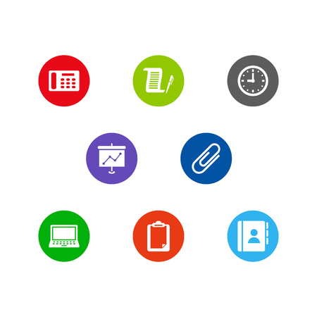 Set of 8 work icons set. Collection of agreement, show, contacts and other elements.