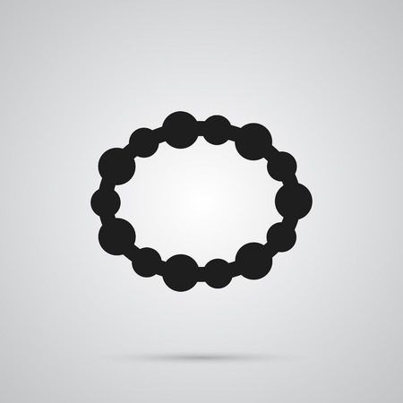 Isolated bracelet icon symbol on clean background. Vector wristband element in trendy style.