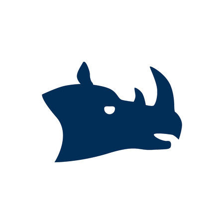 Isolated rhino icon symbol on clean background. Vector rhinoceros element in trendy style.