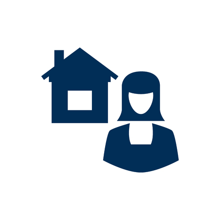 Isolated broker icon symbol on clean background. Vector real estate agent element in trendy style. Ilustração