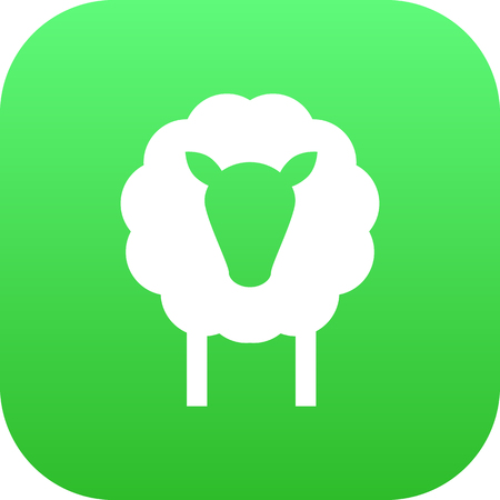 Isolated sheep icon symbol on clean background.  lamb element in trendy style.