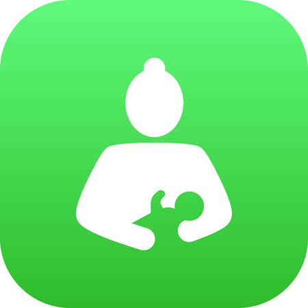 Isolated mother icon symbol on clean background.  care element in trendy style.