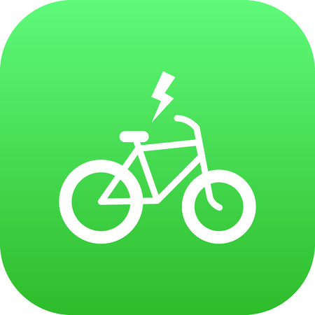 Isolated electric bike icon symbol on clean background. Vector velocipede element in trendy style.