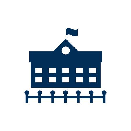 Isoliertes Botschaftssymbol auf sauberem Hintergrund. Vektorparlamentelement im trendigen Stil.