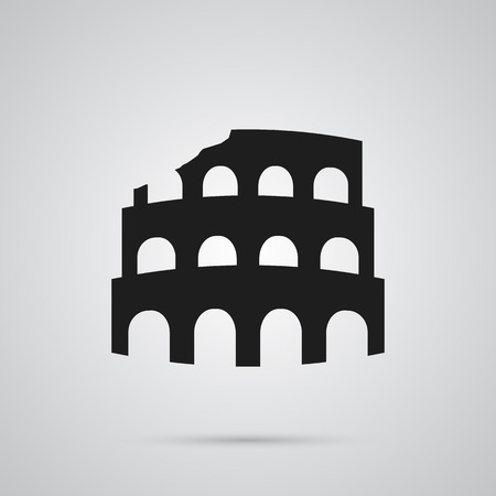 Isolated colosseum icon symbol on clean background.  coliseum element in trendy style.