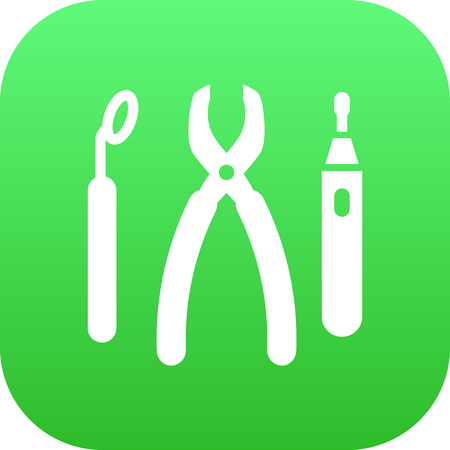 Isolated equipments icon symbol on clean background.  instruments element in trendy style.