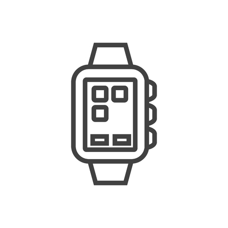 Isolated clock icon line symbol on clean background.  smart watch element in trendy style. 写真素材