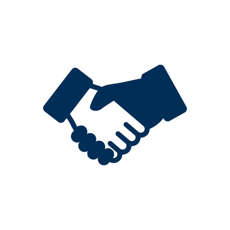 Isolated handshake icon symbol on clean background. Vector deal element in trendy style. Illustration