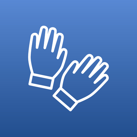 Isolated gloves icon line symbol on clean background. Vector mitten element in trendy style. 일러스트