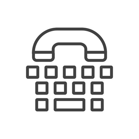 Isolated phone icon line symbol on clean background. Vector tty element in trendy style.
