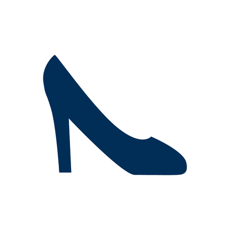 Isolated high heel shoe icon symbol on clean background.  footwear element in trendy style. Banco de Imagens