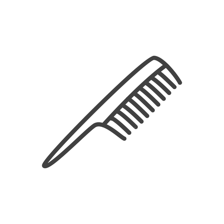 Isolated comb icon line symbol on clean background. Vector hairbrush element in trendy style.
