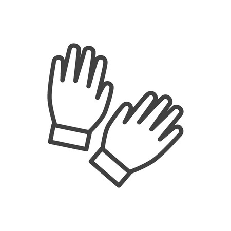 Isolated gloves icon line symbol on clean background.  mitten element in trendy style.