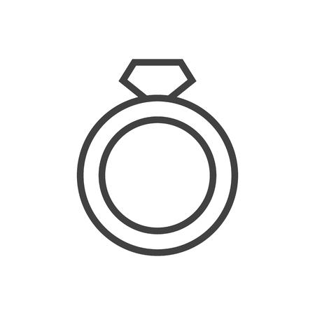 Isoliertes Ringsymbol Symbol auf sauberem Hintergrund. Vektordiamantelement im trendigen Stil.