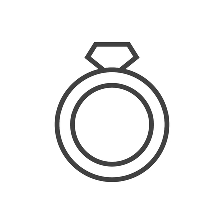Isolated ring icon line symbol on clean background. Vector diamond element in trendy style. Illustration