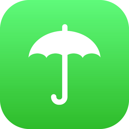 Isolated protect from moisture icon symbol on clean background.  umbrella element in trendy style.