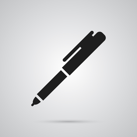 Isolated pen icon symbol on clean background. Vector writing element in trendy style.