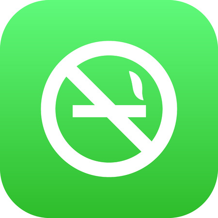 Isolated no smoking icon symbol on clean background.  cigarette forbidden element in trendy style. Stock Photo