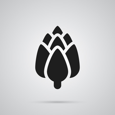 Isolated artichoke icon symbol on clean background.  herbaceous element in trendy style.