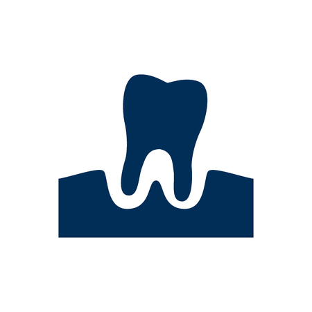 Isolated parodontosis icon symbol on clean background. Vector gingivitis element in trendy style.