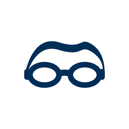 Isolated goggle icon symbol on clean background. Vector mask element in trendy style.