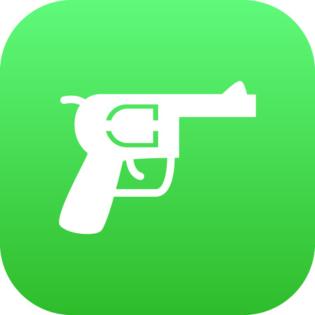 Isolated gun icon symbol on clean background. Vector revolver element in trendy style. Illustration