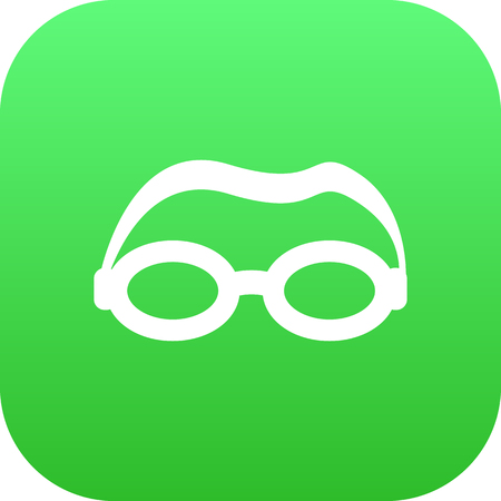Isolated goggle icon symbol on clean background.  mask element in trendy style.