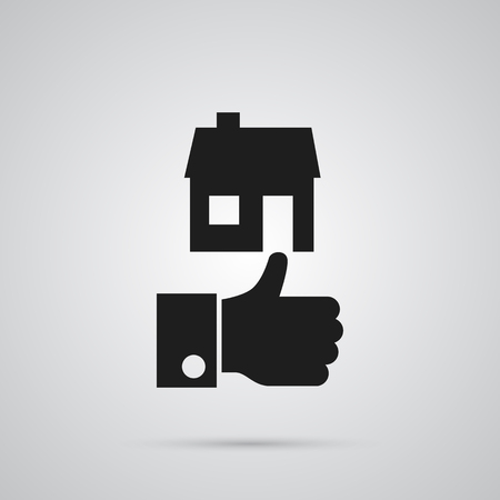 Isolated good property choice icon symbol on clean background. Vector like element in trendy style. Ilustração