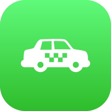 Isolated taxi icon symbol on clean background.  cab element in trendy style.