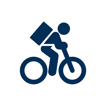 Isolated bicycle icon symbol on clean background. Vector delivery element in trendy style.