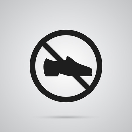 Isolated footwear icon symbol on clean background. Vector not shoes element in trendy style. Иллюстрация