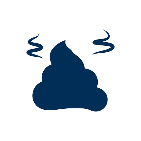 Isolated pile of poo icon symbol on clean background.  pile  element in trendy style.