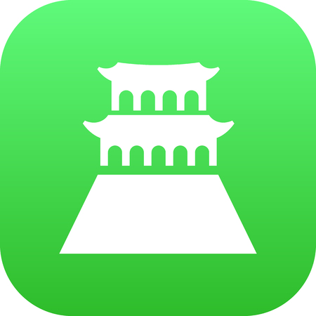 Isolated tienanmen square icon symbol on clean background.  beijing element in trendy style.