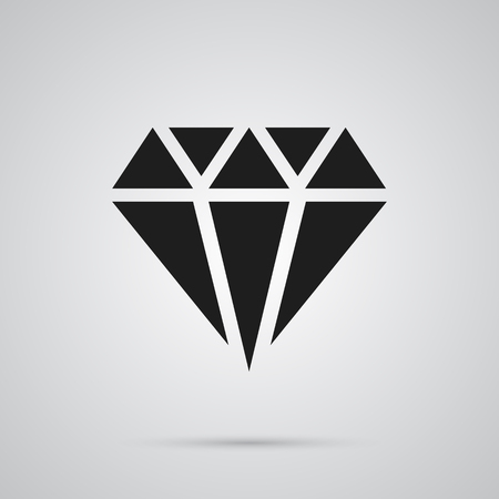 Isolated crystal icon symbol on clean background.  gem element in trendy style. Reklamní fotografie