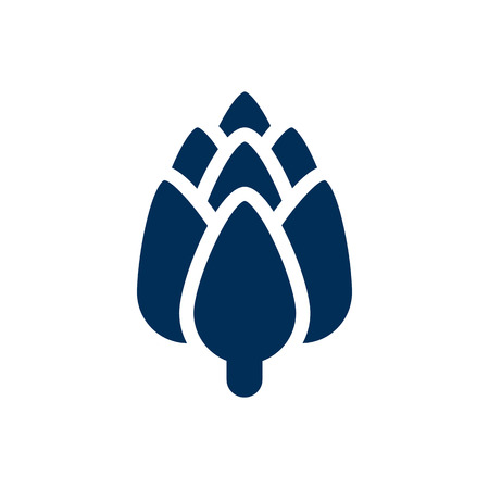 Isolated artichoke icon symbol on clean background. Vector herbaceous element in trendy style.