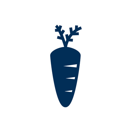 Isolated carrot icon symbol on clean background. Vector veggie element in trendy style. Illustration