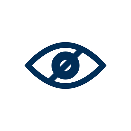 Isolated no looking icon symbol on clean background. Vector blindness element in trendy style. Illustration