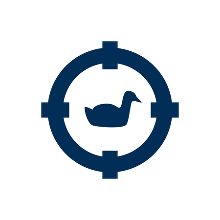 Isolated hunting icon symbol on clean background. Vector target element in trendy style.