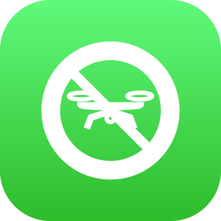 Isolated forbidden icon symbol on clean background. Vector no drone element in trendy style. Illustration