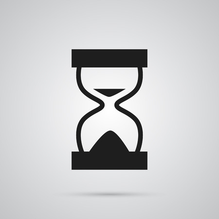 Isolated hourglass icon symbol on clean background. Vector sandglass element in trendy style.