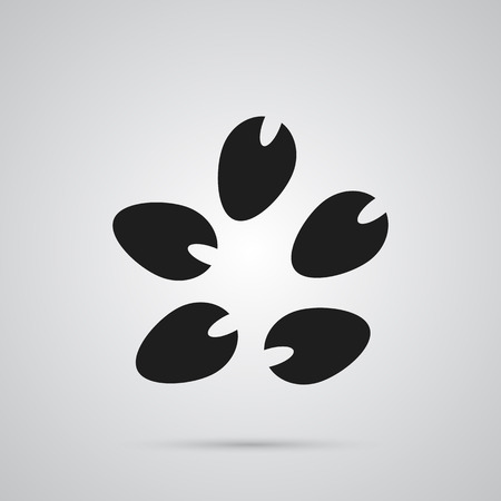 Isolated seed icon symbol on clean background. Vector bean element in trendy style. Illustration