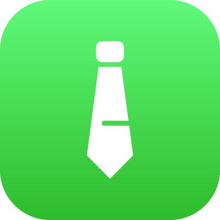 Isolated tie icon symbol on clean background. Vector necktie element in trendy style. Ilustração