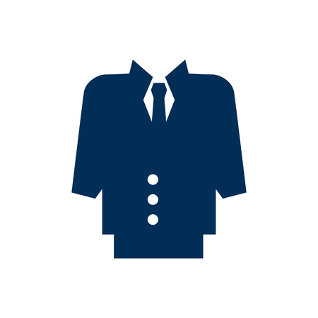 Isolated suit icon symbol on clean background. Vector dress code element in trendy style.