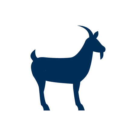 Isolated goat icon symbol on clean background. Vector livestock element in trendy style.