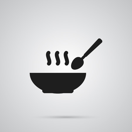 Isolated soup icon symbol on clean background. Vector broth element in trendy style.