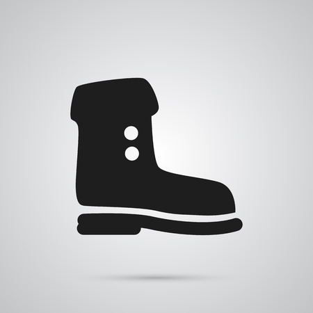 Isolated boot icon symbol on clean background.  shoe element in trendy style. Stock Photo