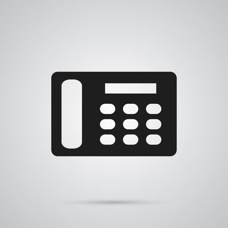 Isolated contacts icon symbol on clean background. Vector telephone element in trendy style. Ilustração
