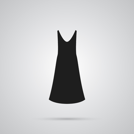 Isolated slip dress icon symbol on white