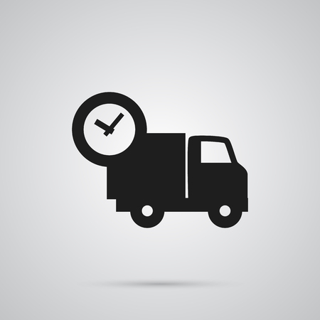 Isolated shipping icon symbol on clean background. Vector van element in trendy style.