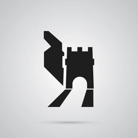 Isolated great wall icon symbol on white 일러스트